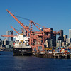 2013-09-11 - Port of Seattle in foreground and downtown in background - Seattle, WA, USA