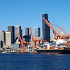 2013-09-11 - Port in foreground and tall buildings in background - Seattle, WA, USA