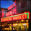 2013-07-25 - Pike Place Market sign at night in Seattle, WA, USA
