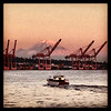 2013-07-24 - View from Pier 70 toward Port of Seattle and Mt Rainier, Seattle, WA, USA