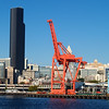 2013-09-11 - Black Building and Red Crane - Seattle, WA, USA
